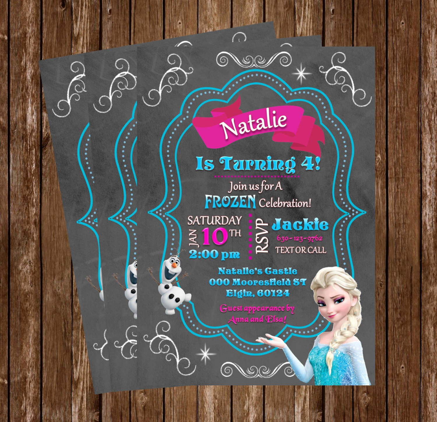 Personalized Frozen Birthday Invitations Elegant Frozen Invitation Elsa Birthday Invitation