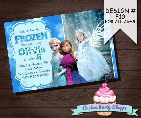 Personalized Frozen Birthday Invitations Elegant Frozen Printable Invitation Custom Frozen Invitation for Girls Birthday Party Frozen Party