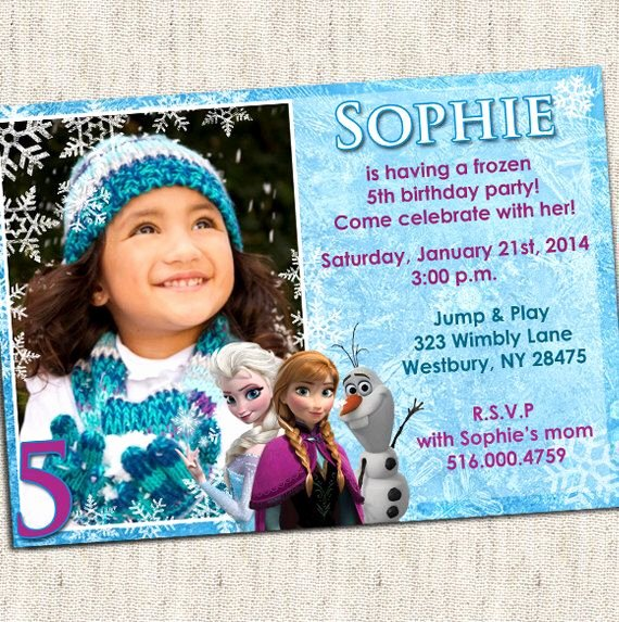 Personalized Frozen Birthday Invitations Fresh 26 Best Frozen Birthday Party Invitations Images On Pinterest