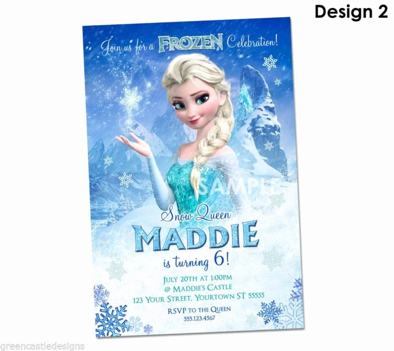 Personalized Frozen Birthday Invitations Lovely Details About Disney Frozen Invitations Personalized Frozen Party Invitations Elsa Custom In