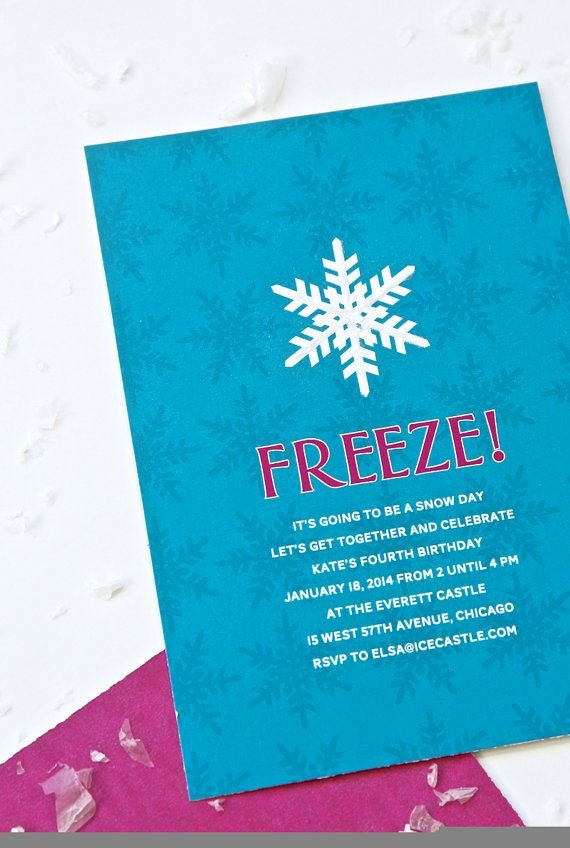 Personalized Frozen Birthday Invitations Unique 17 Best Images About Frozen Birthday On Pinterest