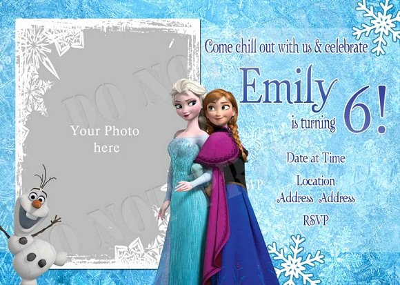 Personalized Frozen Birthday Invitations Unique Elsa Frozen Birthday Party Invitation Ideas – Bagvania Free Printable Invitation Template