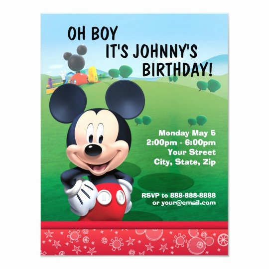 Personalized Mickey Mouse Invitations Awesome Mickey Mouse Birthday Invitation