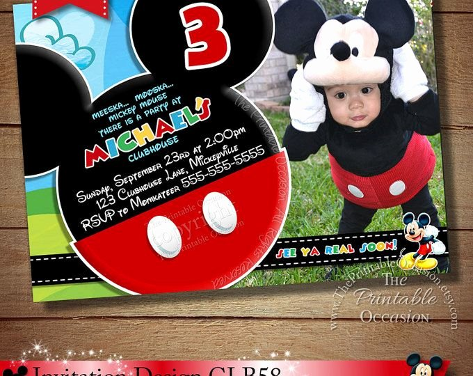 Personalized Mickey Mouse Invitations Fresh 157 Best Images About Mickey Mouse Clubhouse Invitation & Party Printables On Pinterest