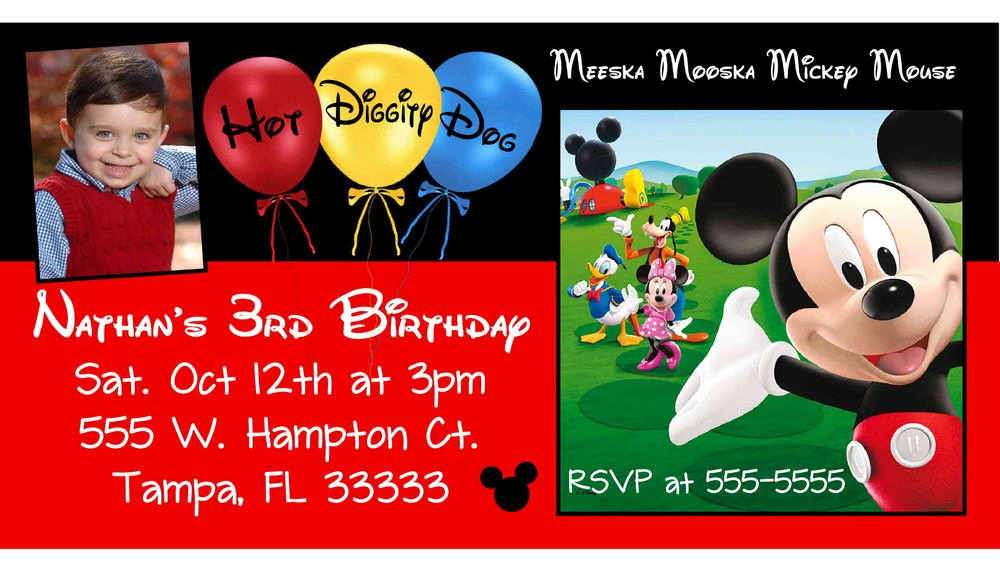 Personalized Mickey Mouse Invitations New 10 Magnetic Mickey Mouse Clubhouse Birthday Invitations Personalized Magnets
