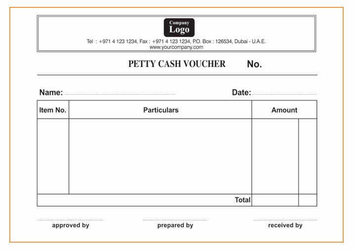 Petty Cash Voucher form Awesome Petty Cash Meaning Template Accounting