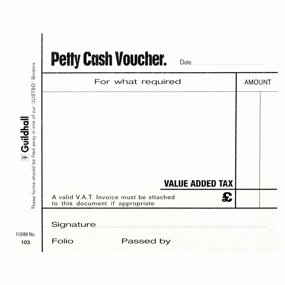 Petty Cash Voucher form Elegant Guildhall White Petty Cash Voucher Pads Pack Of 5 1569
