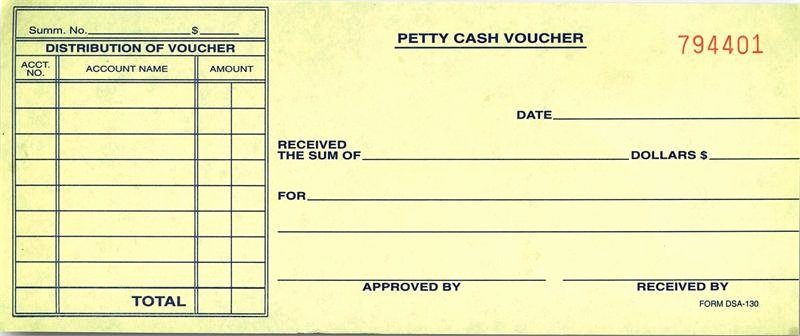 Petty Cash Voucher form Elegant Petty Cash Voucher Dsa 130