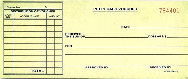 Petty Cash Voucher form Elegant Petty Cash Voucher Dsa 130