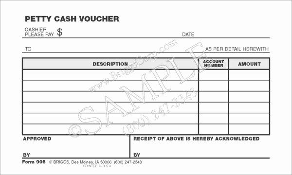 Petty Cash Voucher form Inspirational Petty Cash Voucher form
