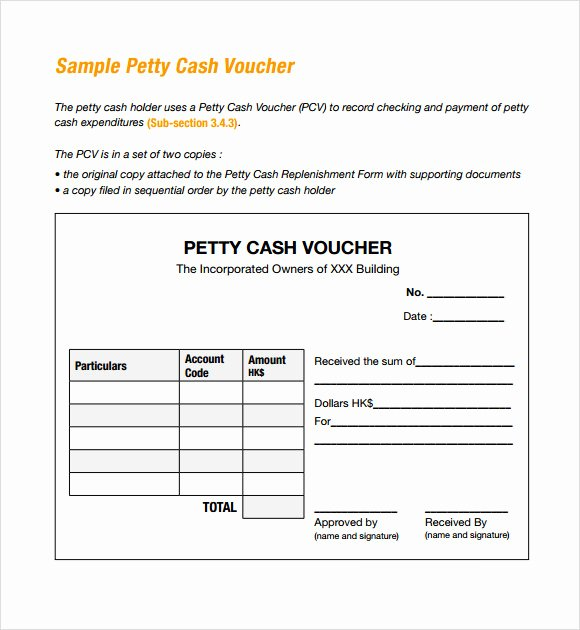 Petty Cash Voucher form Lovely Free 13 Petty Cash Voucher Templates In Illustrator Ms Word Pages Shop Publisher