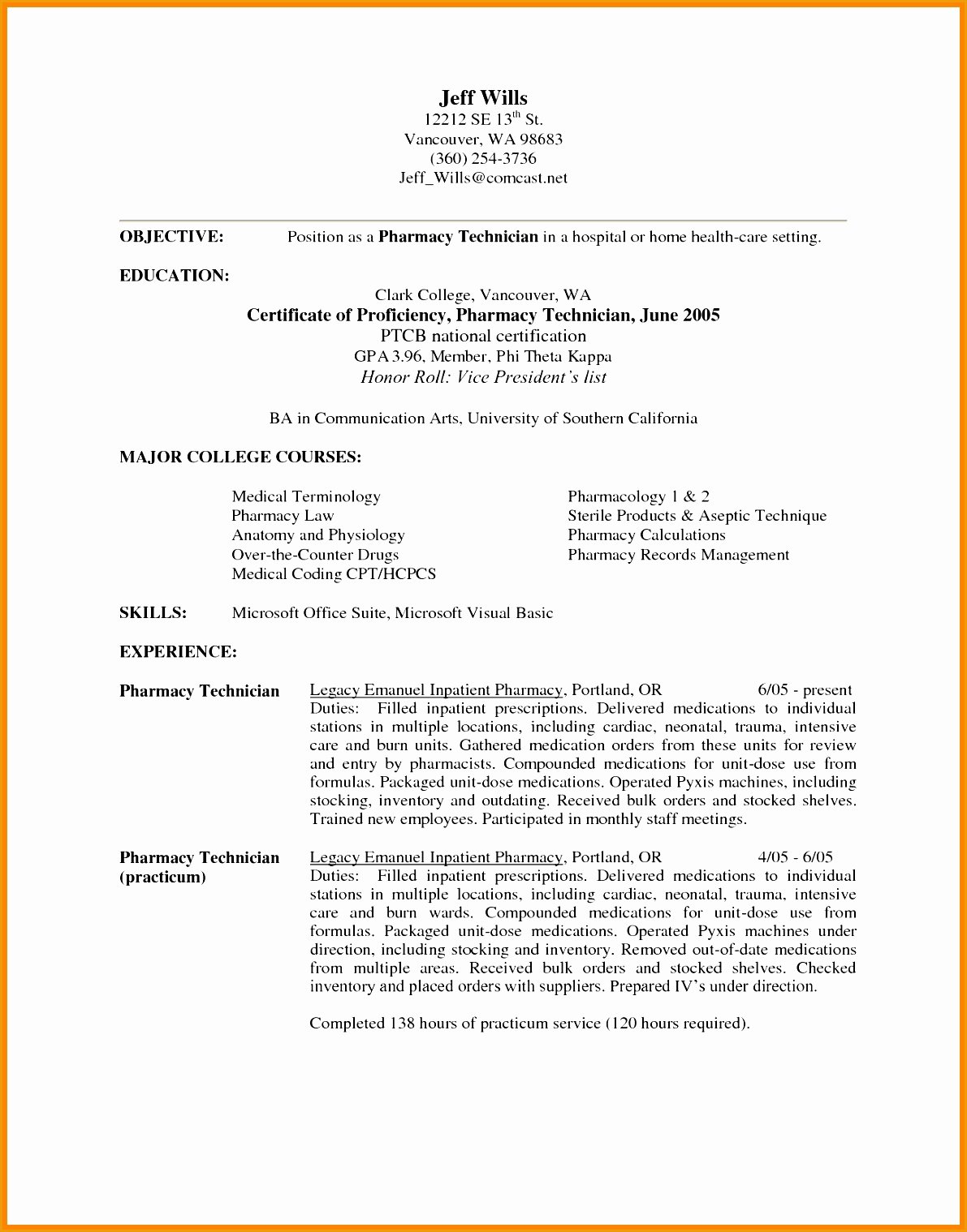 Pharmacy Technician Resume Objective Fresh 7 Retail Pharmacist Resume Sample