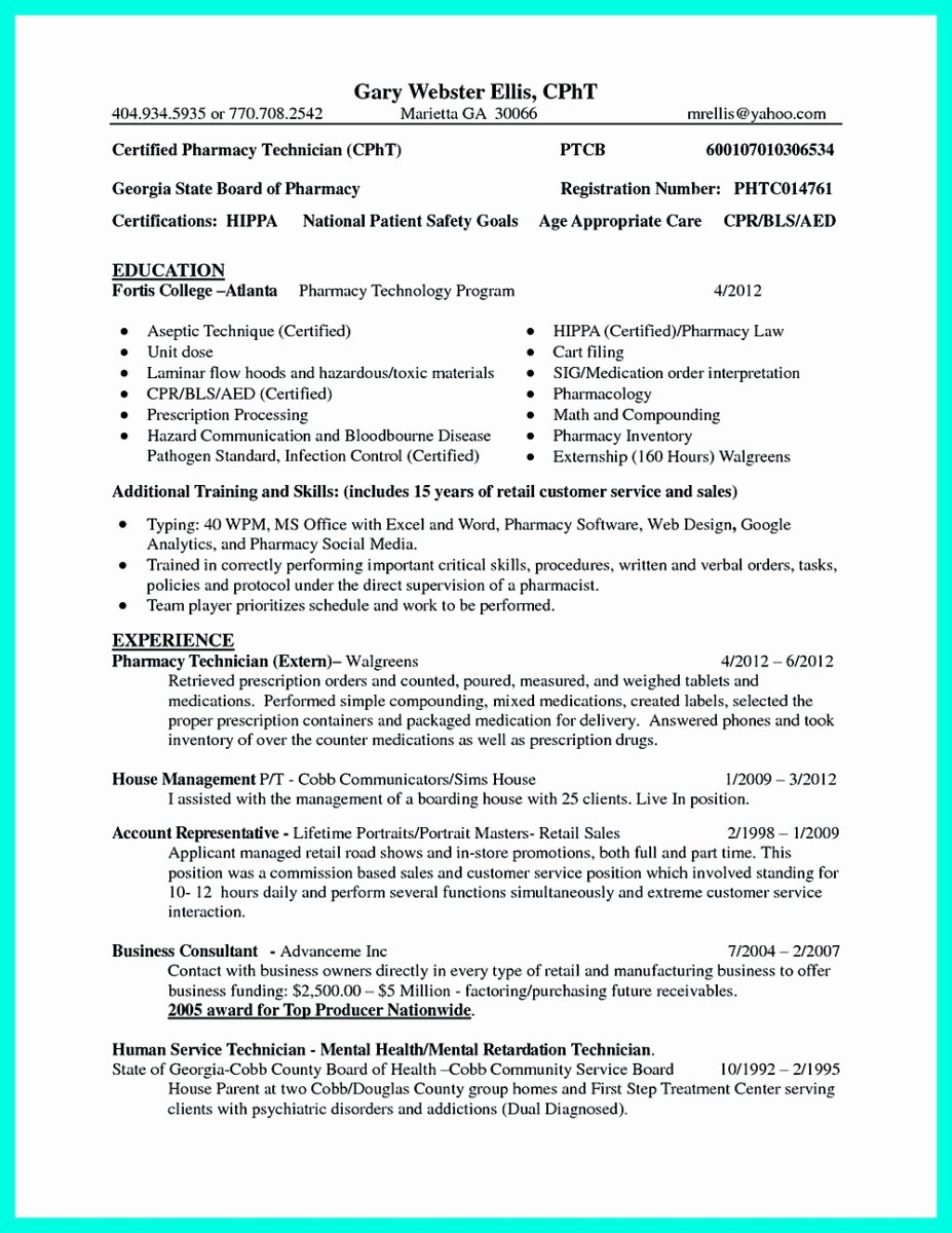 Pharmacy Technician Resume Objective New What Objectives to Mention In Certified Pharmacy Technician Resume