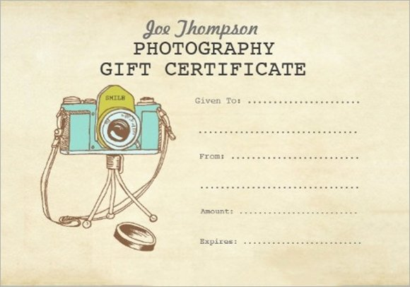 Photo Session Gift Certificate Fresh Free 11 Sample attractive Graphy Gift Certificate