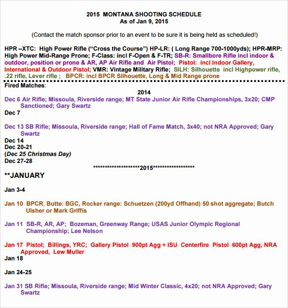 Photo Shoot Schedule Template Best Of Sample Shooting Schedule 12 Documents In Pdf Word Excel