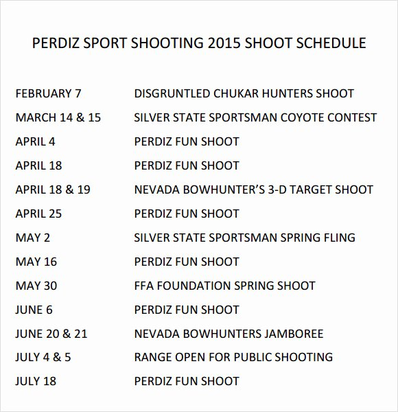 Photo Shoot Schedule Template Unique Sample Shooting Schedule 12 Documents In Pdf Word Excel