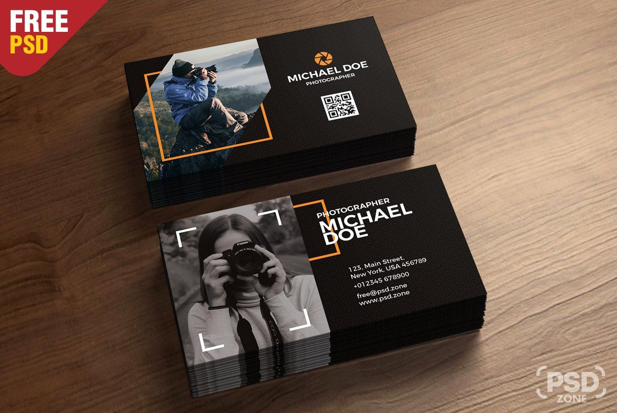 Photographer Business Card Template Awesome Grapher Business Card Template Download Psd