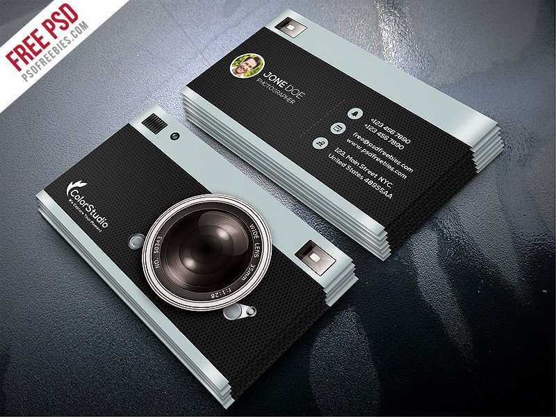 Photographer Business Card Template Elegant Graphy Business Card Template Free Psd