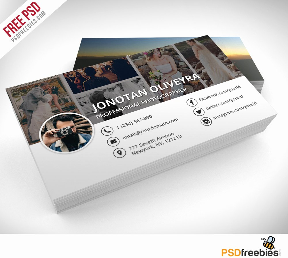 Photographer Business Card Template Elegant Professional Grapher Business Card Psd Template Freebie