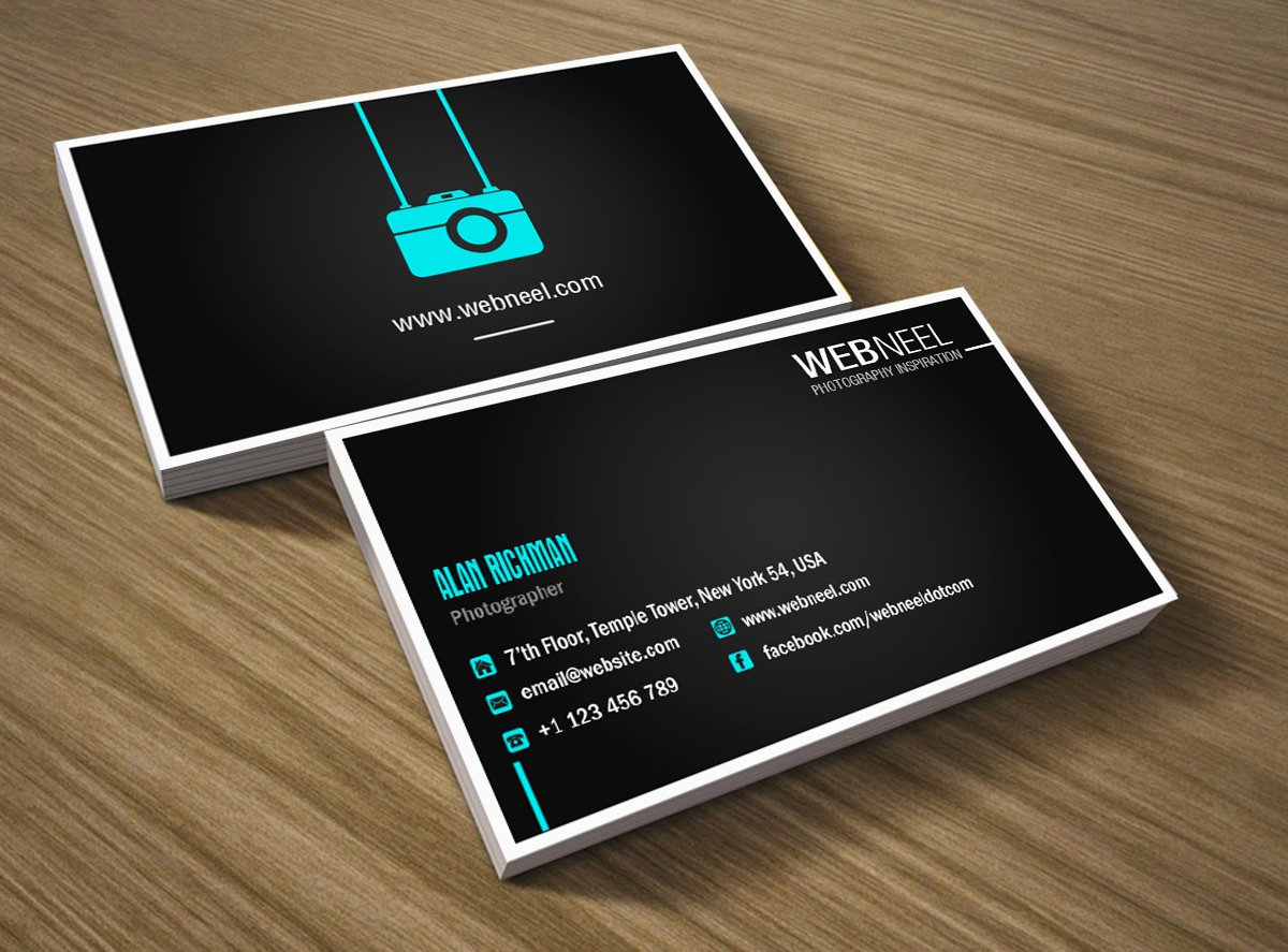 Photographer Business Card Template Inspirational Graphy Business Card Design Template 41 Free Printing Business Card Templates