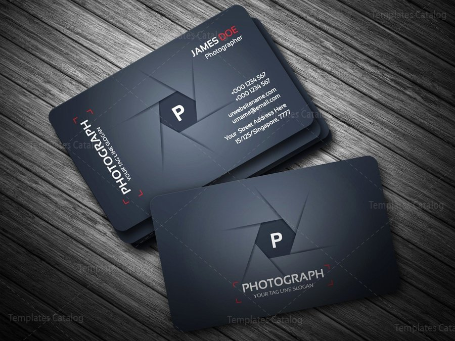 Photographer Business Card Template Lovely Grapher Business Card Template Template Catalog