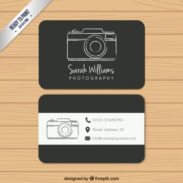 Photography Business Card Examples Inspirational Black Photography Business Card Vector