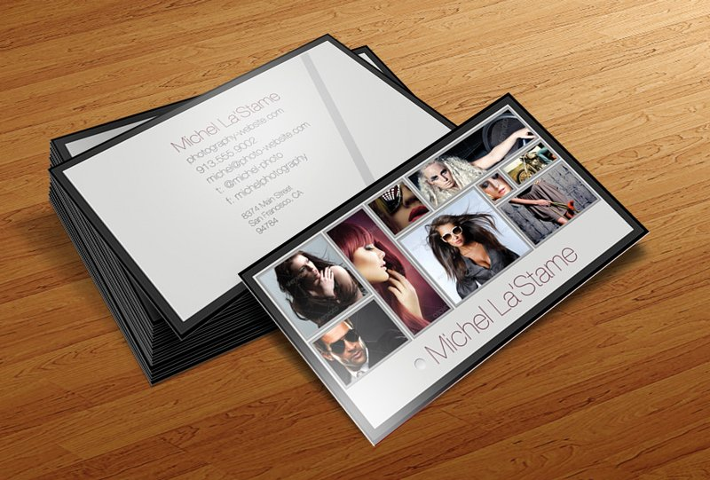 Photography Business Card Template New Cursive Q Designs