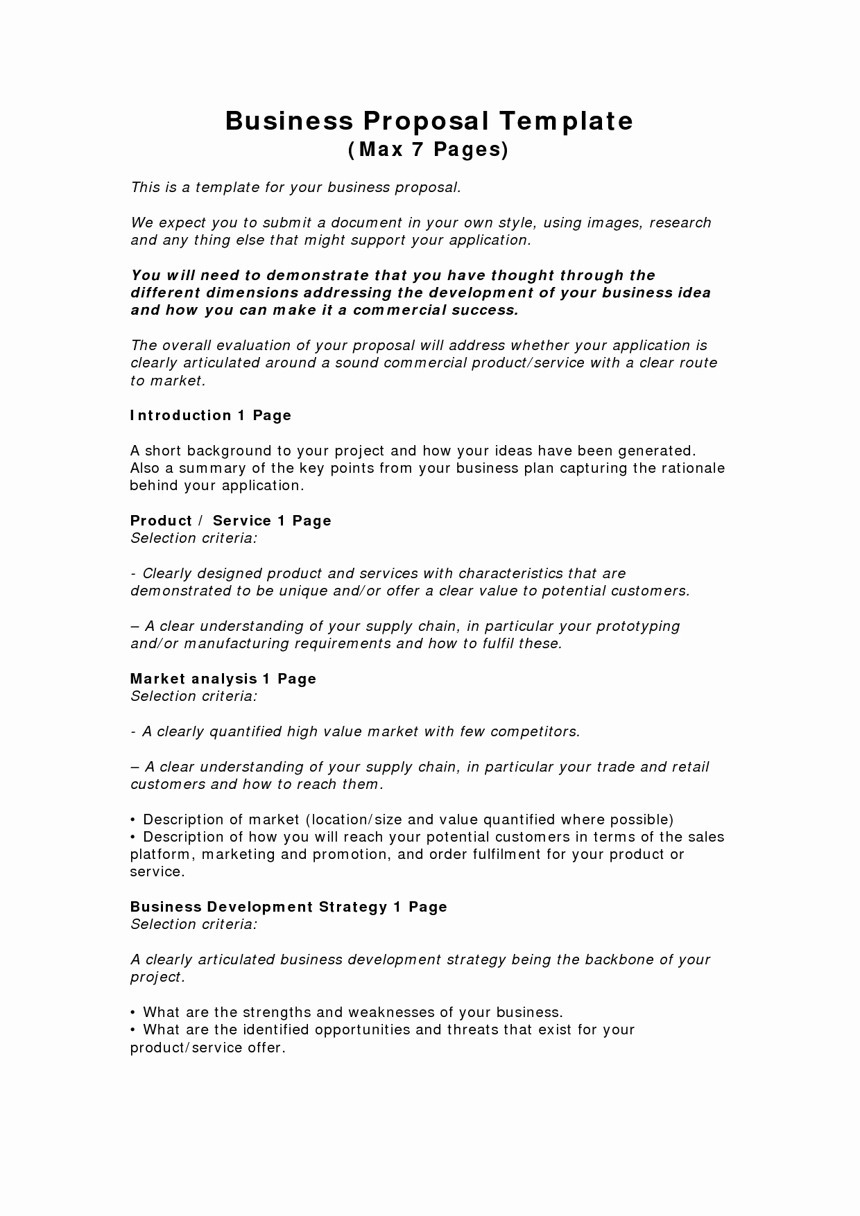 Photography Business Plan Pdf Awesome Business Proposal Templates Examples
