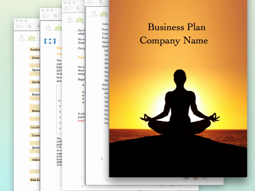 Photography Business Plan Pdf Beautiful Yoga Studio Business Plan Sample Pages Black Box