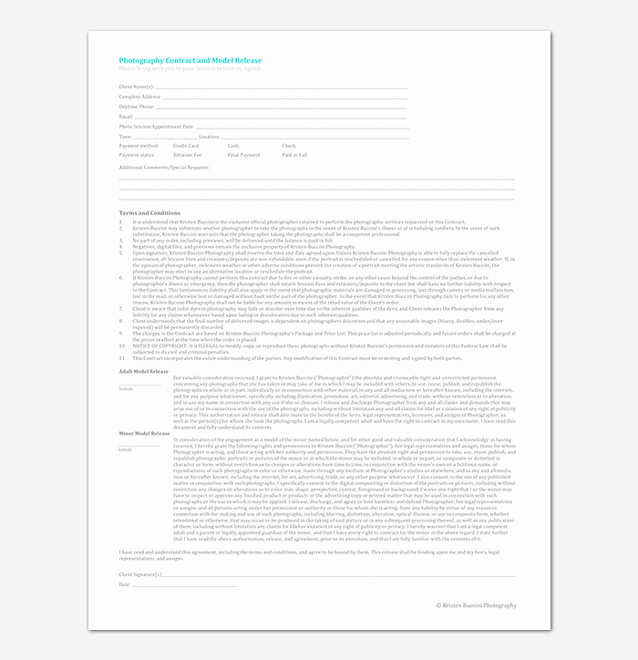 Photography Contract Template Pdf Elegant Graphy Contract Template 40 Free In Word Pdf