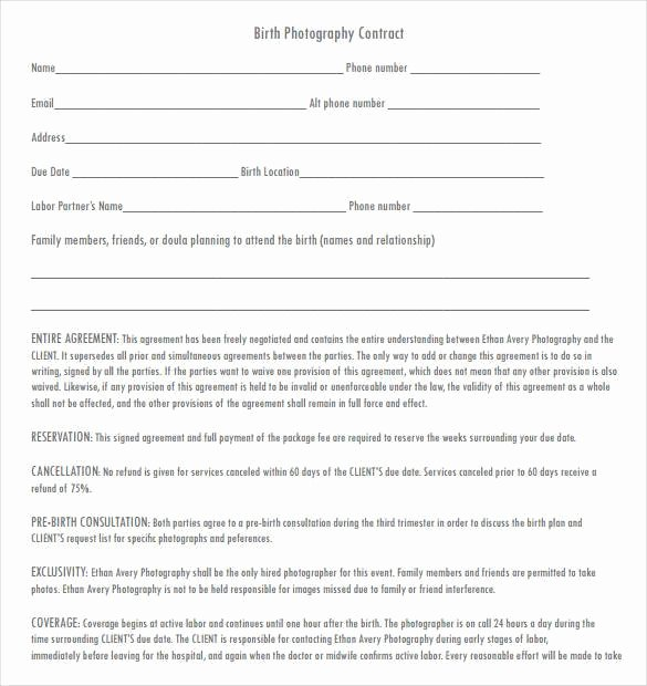 Photography Contract Template Pdf Inspirational 20 Graphy Contract Template