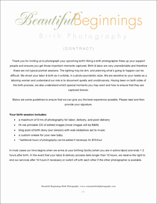 Photography Contract Template Pdf Inspirational 34 Contract Samples & Templates In Pdf