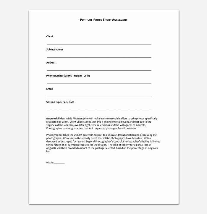 Photography Contract Template Pdf Luxury Graphy Contract Template 40 Free In Word Pdf