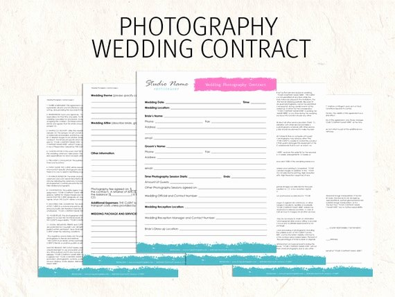 Photography Contract Template Pdf Luxury Items Similar to Wedding Graphy Contract Business forms Flowers Editable Templates 5 Psd