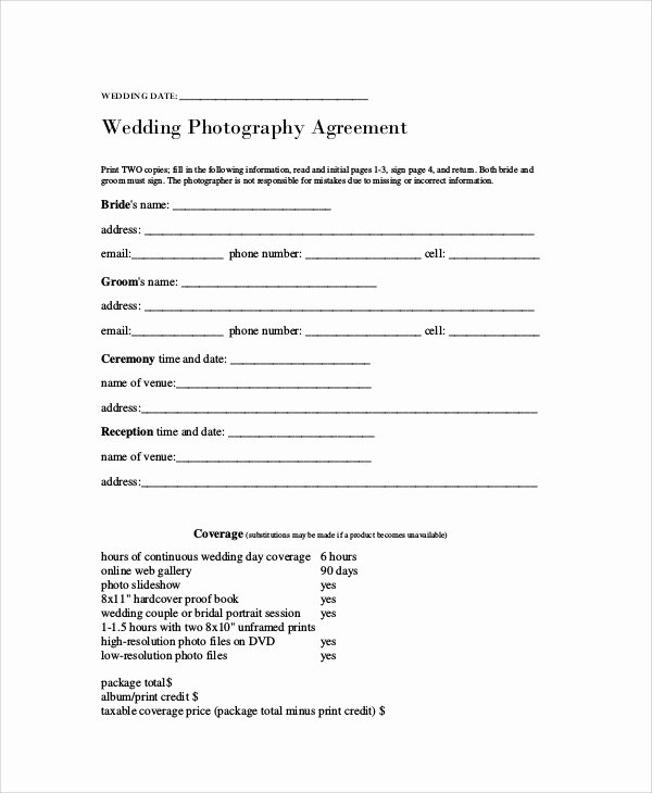 Photography Contract Template Pdf New Graphy Agreement Contract Sample 7 Examples In Word Pdf
