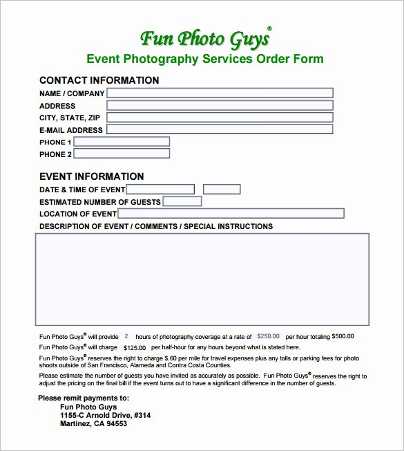 Photography Contract Template Pdf New Graphy Contract Template – 10 Free Word Pdf Documents Download