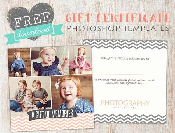 Photography Gift Certificate Template Awesome Free Gift Certificate Template Shop – Birdesign