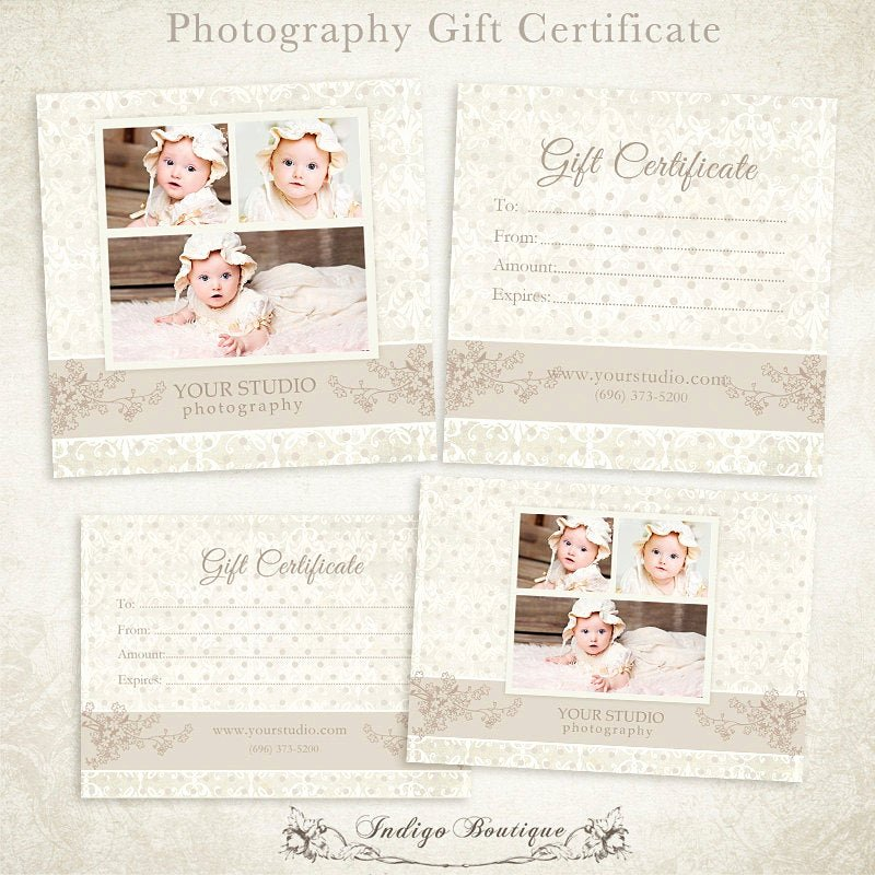 Photography Gift Certificate Template Awesome Graphy Gift Certificate Photoshop Template 006 Id0104