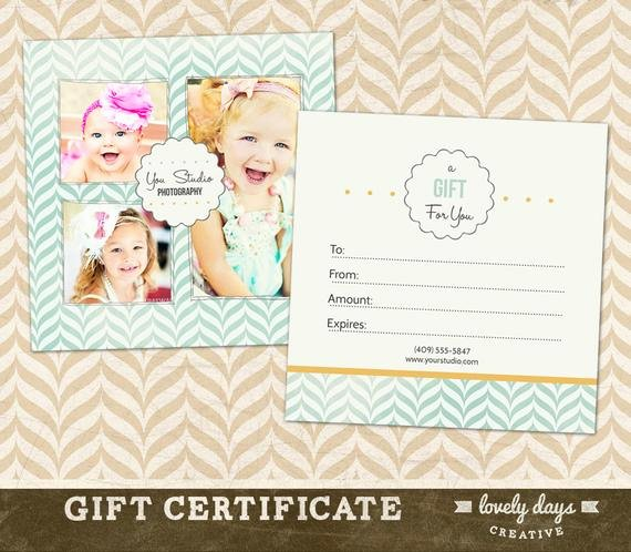 Photography Gift Certificate Template Elegant Graphy Gift Certificate Template for Professional