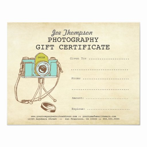 Photography Gift Certificate Template Fresh Grapher Graphy Gift Certificate Template 4 25x5 5 Paper Invitation Card