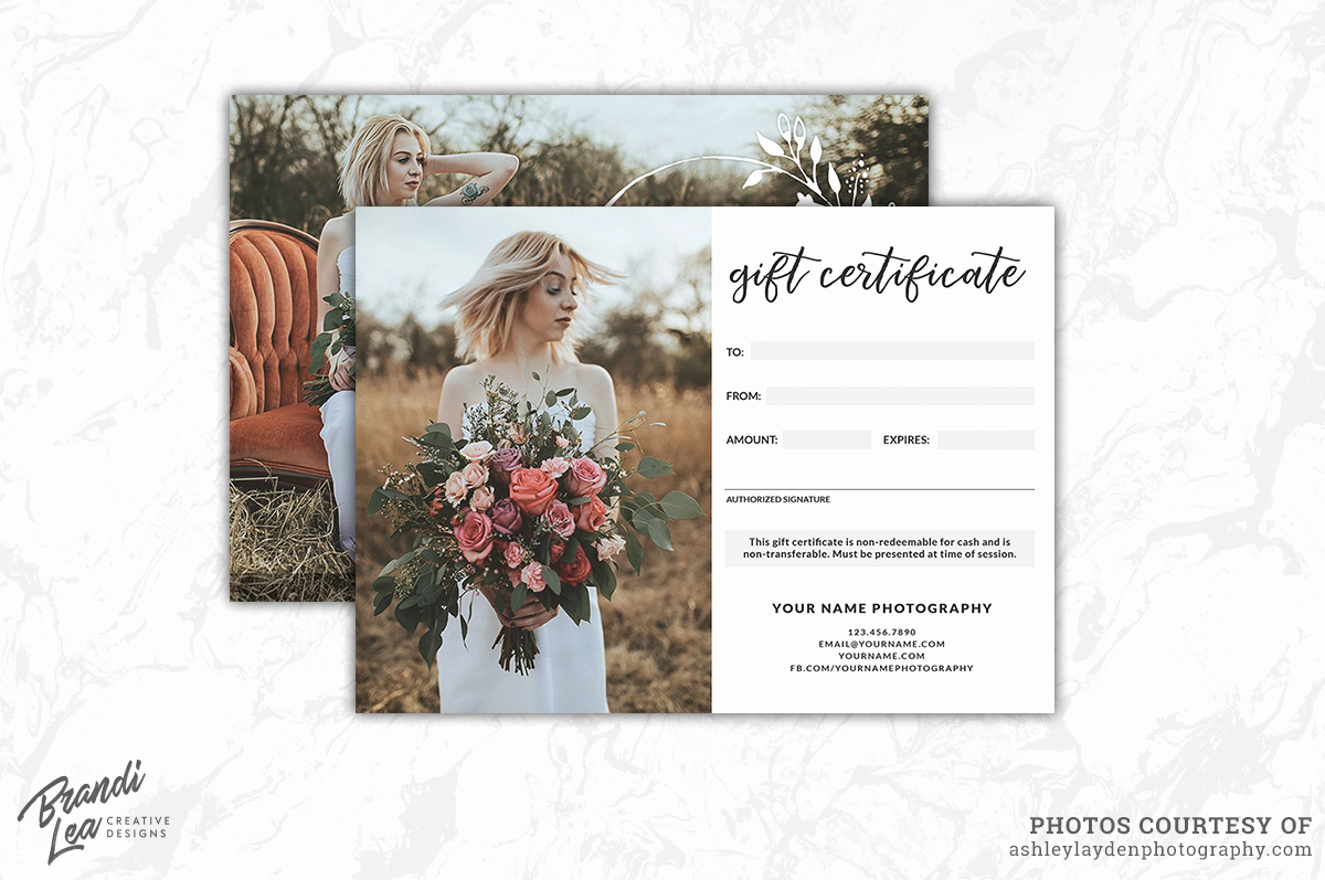 Photography Gift Certificate Template Fresh Graphy Gift Certificate Template