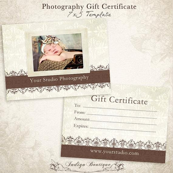 Photography Gift Certificate Template Luxury Graphy Gift Certificate Photoshop Template Id046
