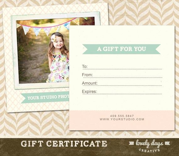 Photography Gift Certificate Template New Graphy Gift Certificate Template for Professional