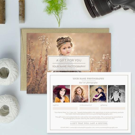 Photography Gift Certificate Template New Graphy Studio Gift Certificate Template Graphy Gift