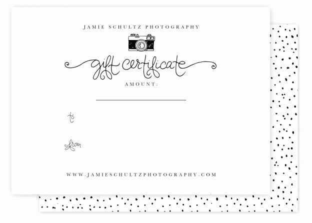Photography Gift Certificate Template New Jamie Schultz Designs Templates A Collection Of Graphy Ideas to Try