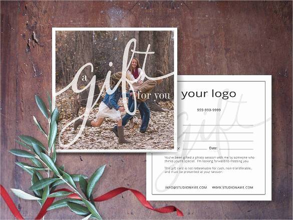 Photography Gift Certificate Wording Elegant Gift Certificate Template 42 Examples In Pdf Word In Design format