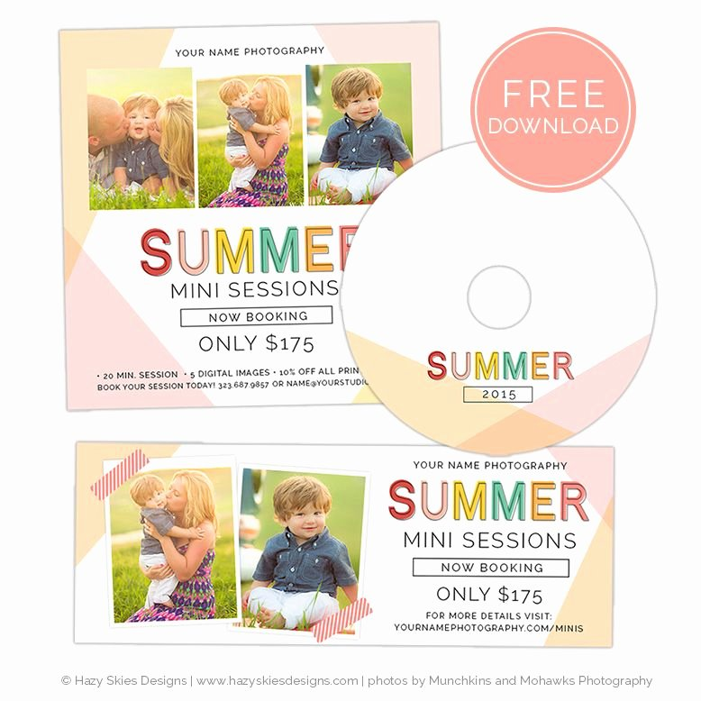 Photography Marketing Templates Free Inspirational Free Summer Mini Session Template for Shop Photography Mini Session Template Photoshop