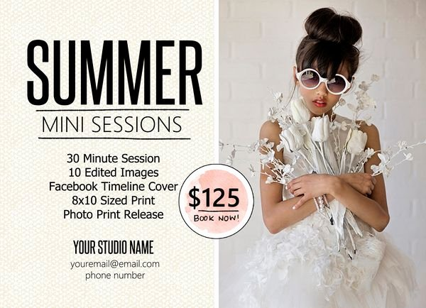 Photography Marketing Templates Free Inspirational Vol 25 Free Mini Session Marketing Template for Photographers