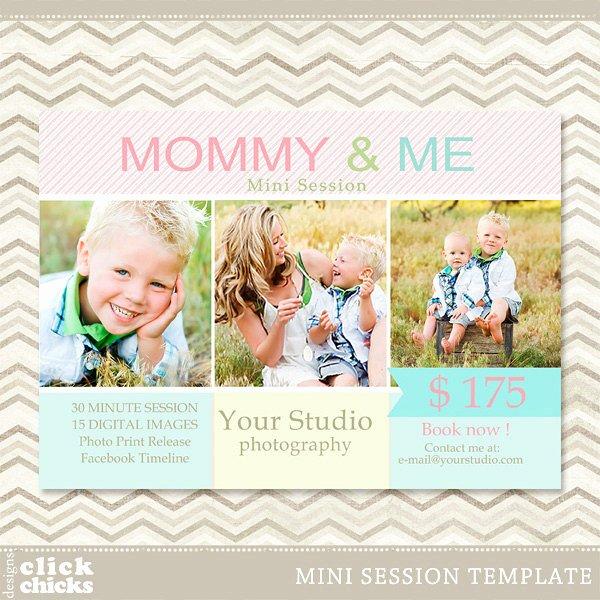 Photography Marketing Templates Free New Mini Session Mommy & Me Graphy Marketing Template 006