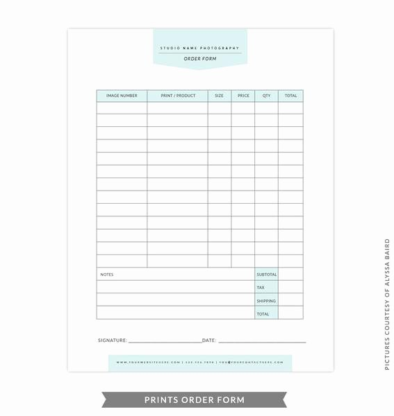 Photography order form Template Free Best Of Studio forms Set Templates